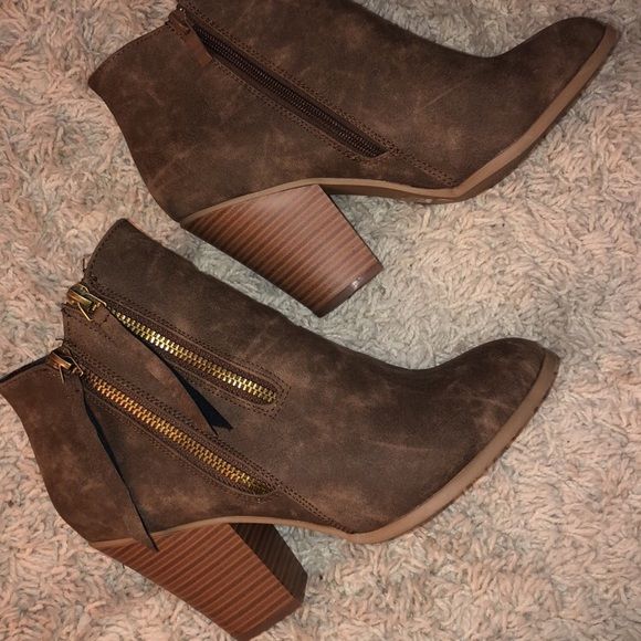 24ccc39e58b Brown ankle booties DSW